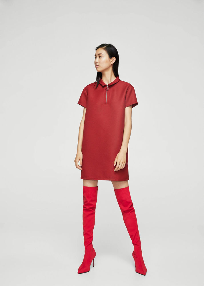 a1b0fbf046b MANGO (ZARA GROUP) XL Stretch Red Over The Knee Thigh Tall ...