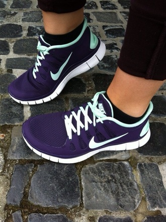 jewels shoes nike running shoes purple shoes nike shoes nike sneakers nike free run nike air style sneakers blue light blue nike free nike mint black