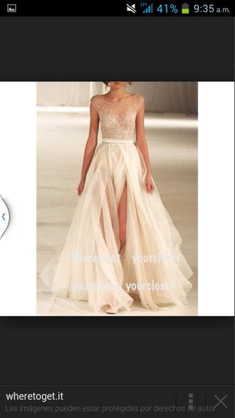 beige dress prom dress dress