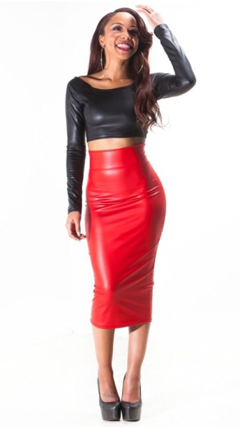 Dress Pencil Skirt Leather Skirt Sexy Party Dresses