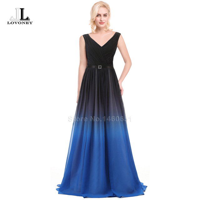 Aliexpress.com : Buy Robe De Soiree Elegant V Neck Long Evening ...