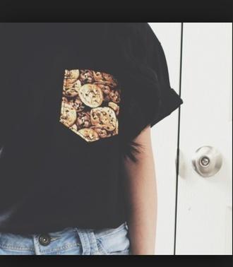 cookies pocket t-shirt food t-shirt