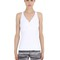 Microfiber tank top with perforated back