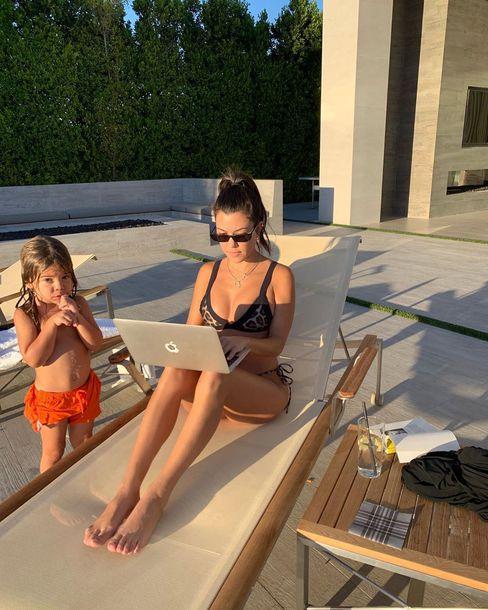 swimwear kourtney kardashian kardashians celebrity bikini bikini top bikini bottoms instagram
