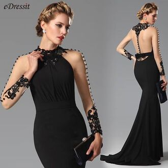 dress edressit fashion black gown party