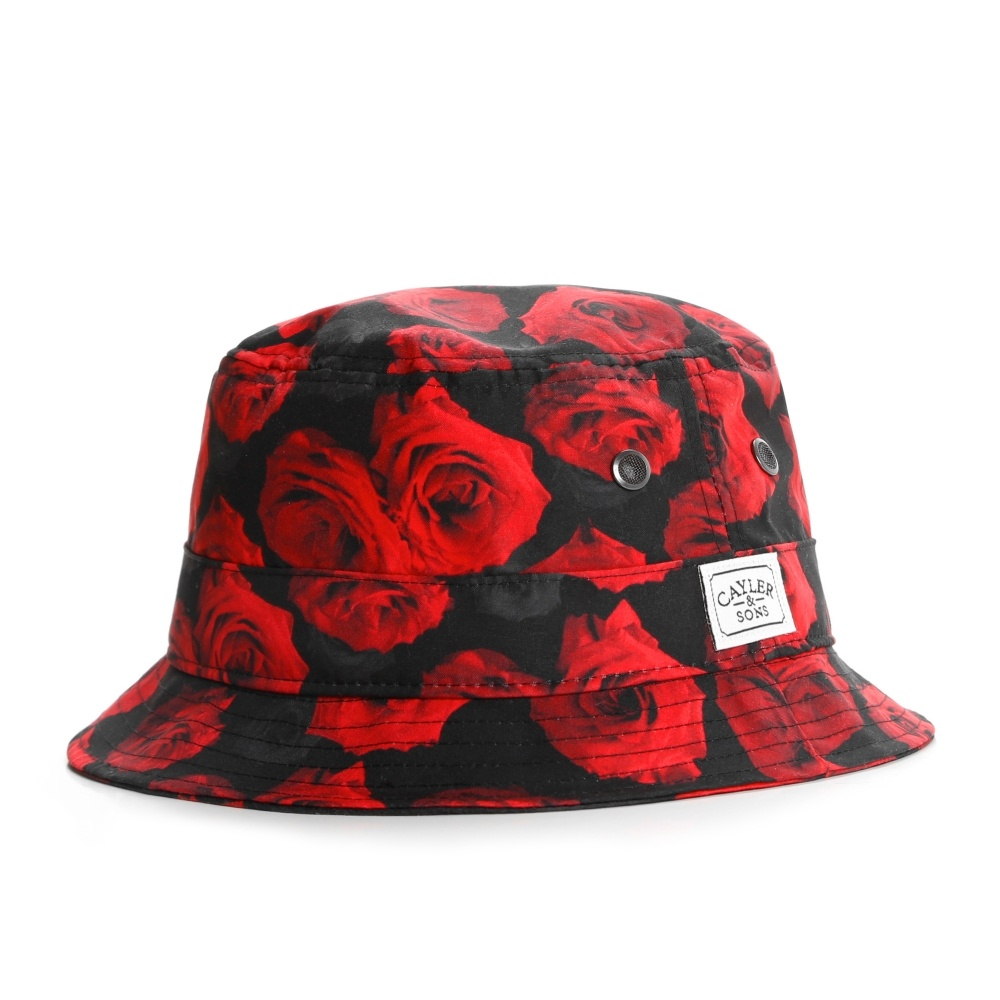 CAYLER   SONS Roses Bucket Hat red roses black f31350c990e