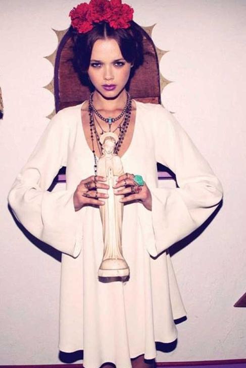 For love & lemons luciana dress in ivory