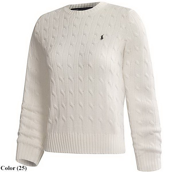 Cotton Cable Crew Sweater By Ralph Lauren Golf (for Women)