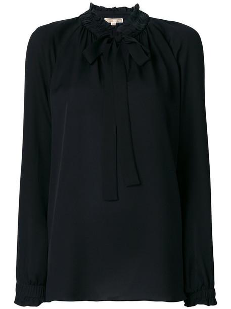 Michael Michael Kors - classic fitted blouse - women - Silk - XS, Black, Silk