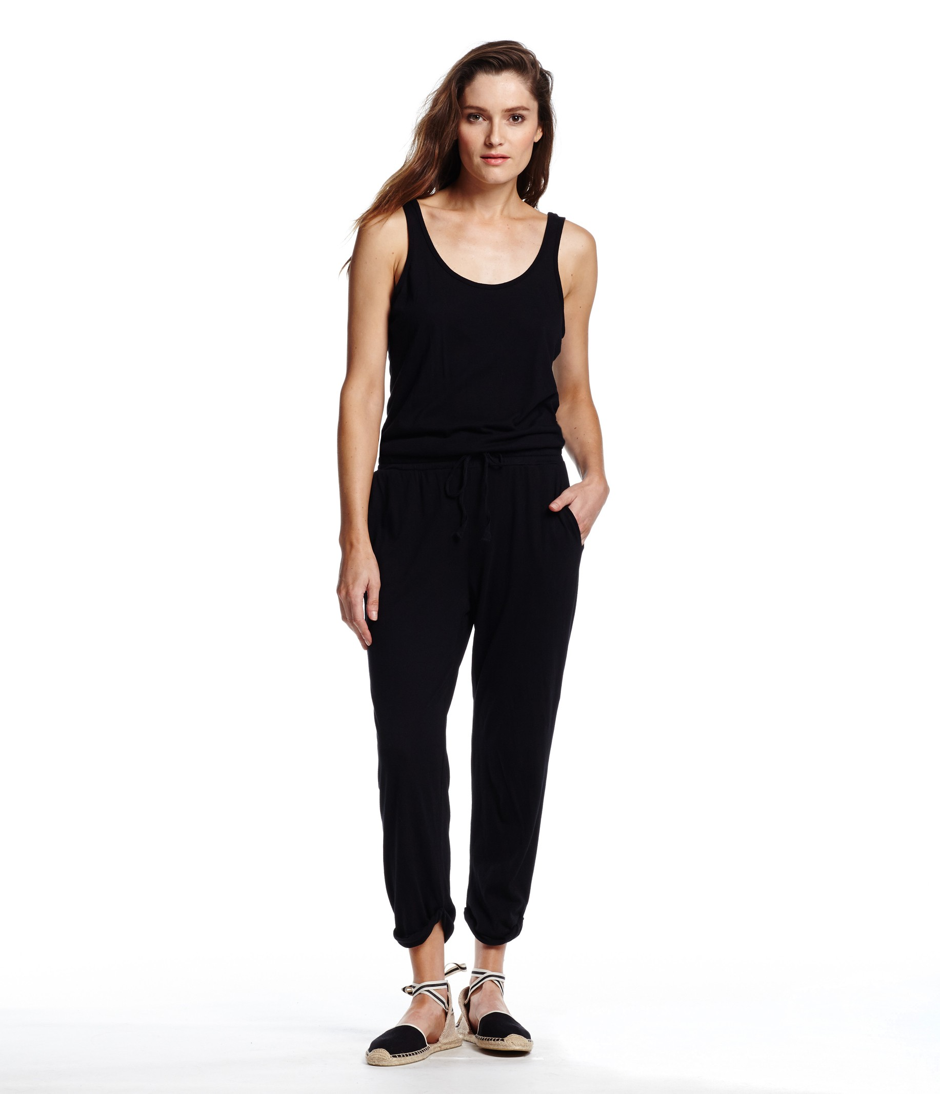 Tank Jumpsuit with Drawstring Waist