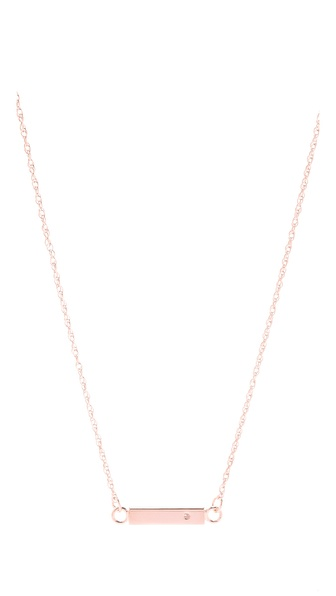 Jennifer Zeuner Jewelry Chelsea Mini Bar Necklace with Diamond |SHOPBOP | Save up to 25% Use Code BIGEVENT13