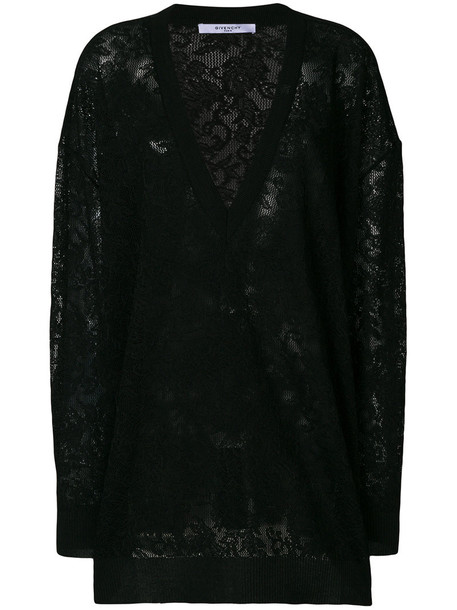Givenchy sweater embroidered women floral black