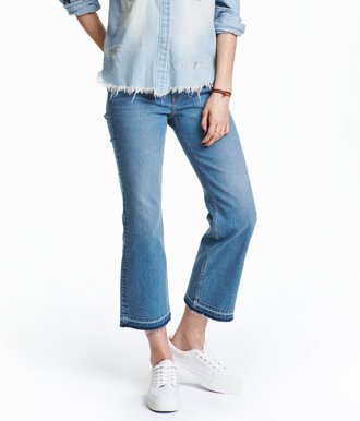 jeans kick jeans cropped jeans kick flare kick flare jeans h&m