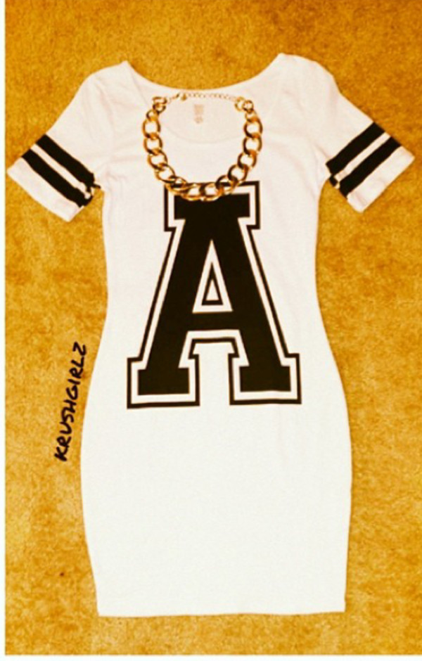 dress black & white with a black a on    iit
