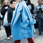 coat,blue,tumblr,blue coat,oversized,fuzzy coat,fluffy,streetstyle,masculine coat,blue fluffy coat,oversized coat