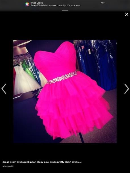 dress hot pink short dress