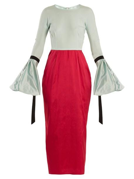 Emilio De La Morena dress silk dress silk red