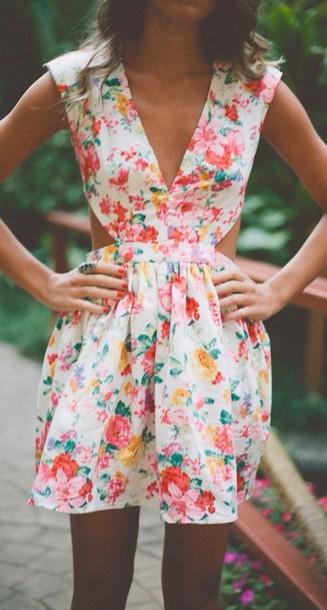 dress floral dress mini dress summer dress
