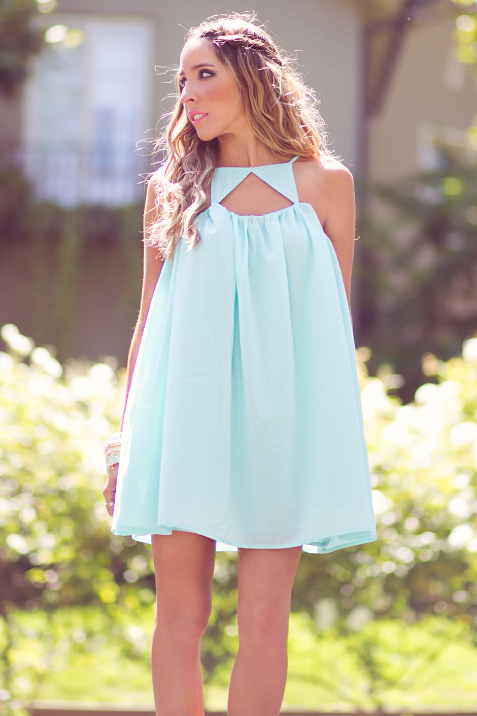 TRIANGLE FRONT DRESS - Mint | Haute & Rebellious