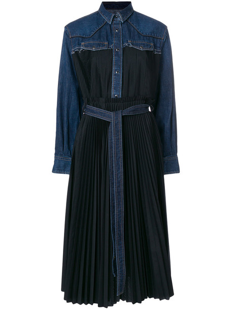 Sacai dress denim women cotton black