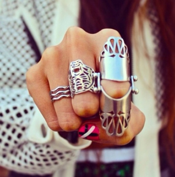 ring armor ring jewels silver rings