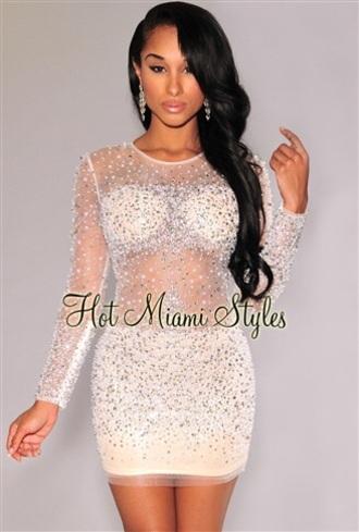 dress see through dress party dress bodycon dress white dress