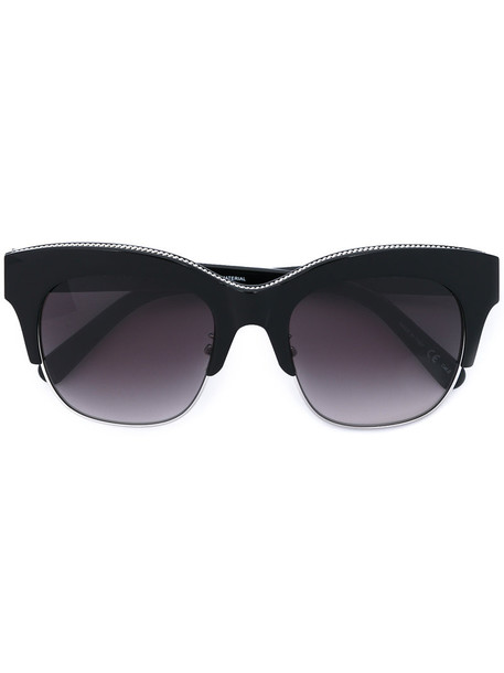 Stella Mccartney Eyewear - Falabella chain sunglasses - women - Acetate/metal - 52, Black, Acetate/metal