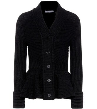 cardigan wool black sweater