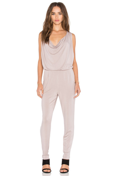LA Made Daphne Jumpsuit in beige / beige