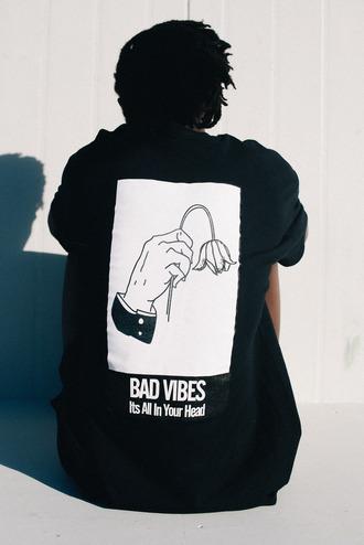 jacket bad vibes black black and white unisex