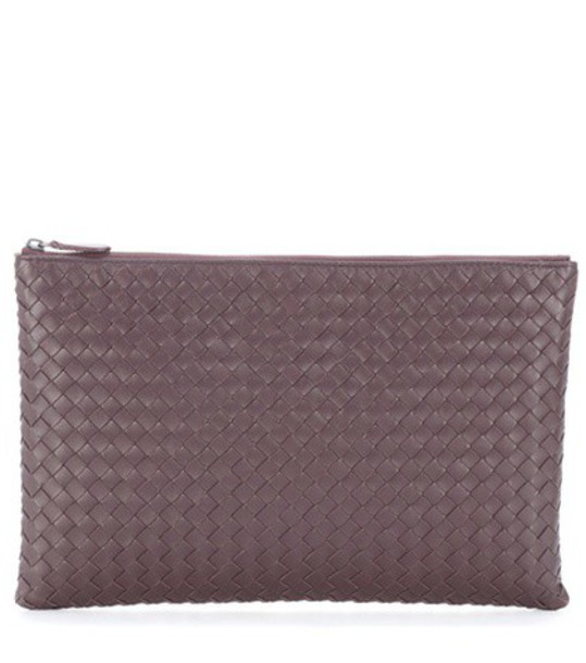 Bottega Veneta leather clutch clutch leather brown bag