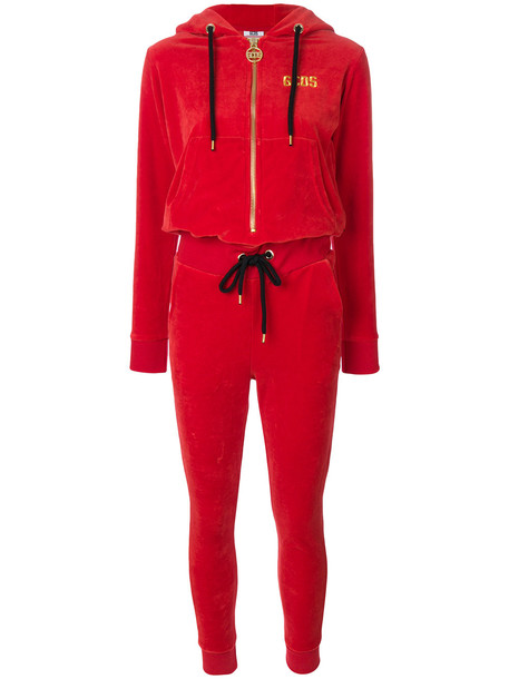 Gcds track jumpsuit - Red
