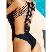 swimwear,sexy,black,lace,trendy,fashion,girly,backless,pool,cool,party,love,pretty,cute,fashionista,style,lace up,solid color,swimming,swimming suit,beach,sun tan,pool party,sexy swimwear,gorgeous