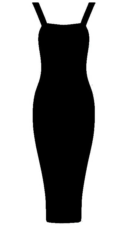 Midi Bandage Dress Black