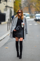 vogue haus,blogger,sweater,skirt,coat,shoes,bag,silk,satin,dance,party,nylons,sexy