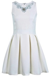 dress skater dress skater skirt pleated dress cream cream dress prom dress bridesmaids dress