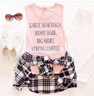 shorts tank top pink dress glasses sunglasses style shirt t-shirt belt