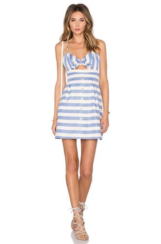 dress cut-out dress stripes striped dress blue