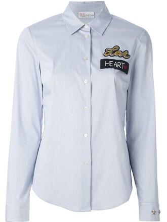 shirt love blue top
