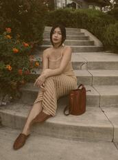 honey n silk,blogger,dress,bag,jewels,crochet dress,loafers,bucket bag,fall outfits