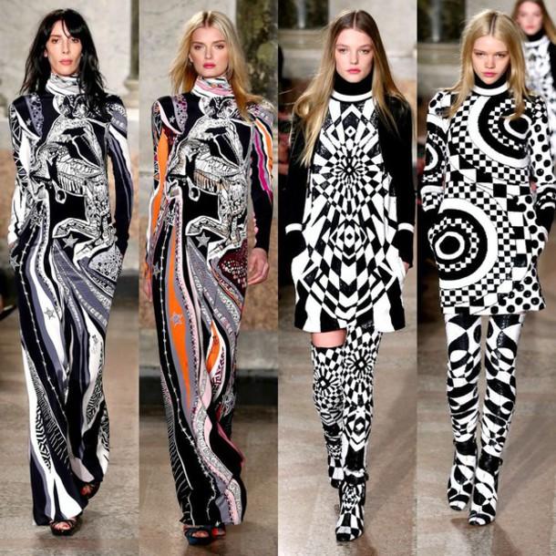 dress black and white dress black and white abstract abstract print fashion fashion week 2015
