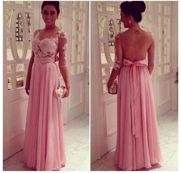 dress pink lace dress long prom dresses prom dress pink dress lace pink prom