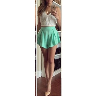 shorts mint blue summer shorts pants