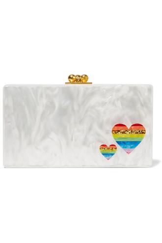 rainbow clutch white bag