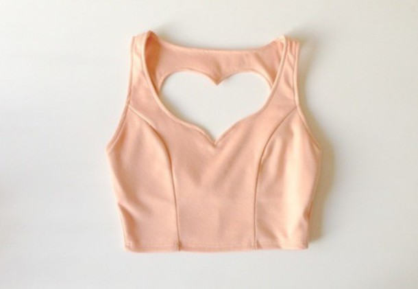 tank top heart cut-out girly