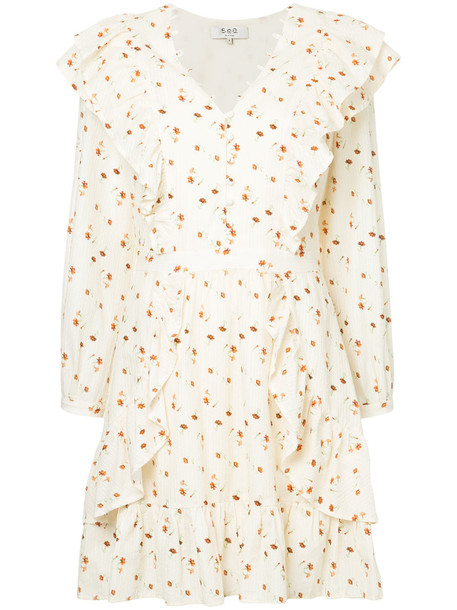 SEA dress floral dress women floral cotton yellow orange