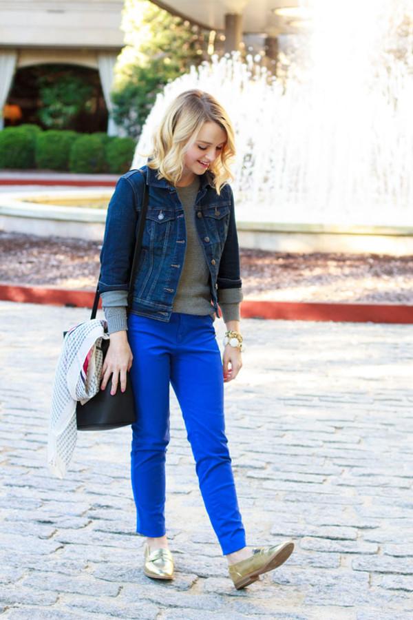 poor little it girl blogger jacket bag scarf jewels