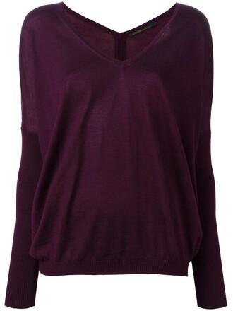 jumper women silk purple pink sweater