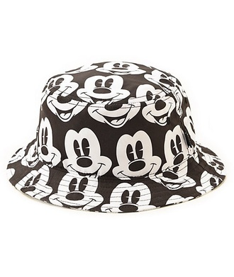 mickey mouse black and white disney bucket hats