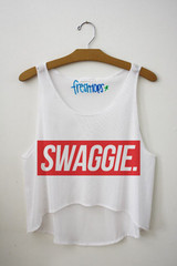 Swaggie (with a ie) crop top